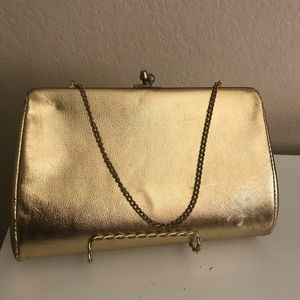 Vintage Gold Small Clasp Purse